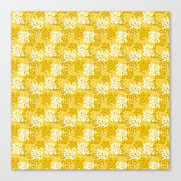 Swanky Mo Yellow Canvas Print