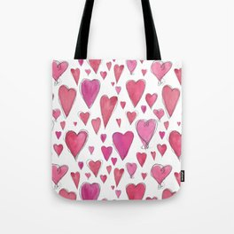 Watercolor My Heart (Large) by Deirdre J Designs Tote Bag