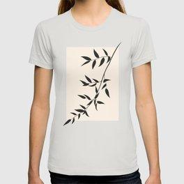 pastel square - black branch - ruscus T-shirt