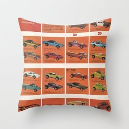 1969 Hot Wheels Redline Catalog Poster No 8 Throw Pillow