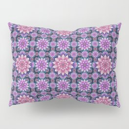 Embroidered pink & purple Pillow Sham