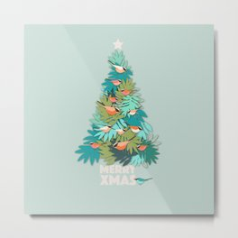 Tropical Xmas Metal Print