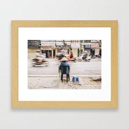 The passing of time in Hanoi, Vietnam Framed Art Print