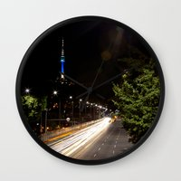 seoul Wall Clocks featuring Seoul Tower by Marisa Johnson :: Art & Photography