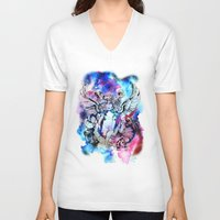 marc johns V-neck T-shirts featuring Marc Bolan - Cosmic Dancer by FlowerMoon Studio