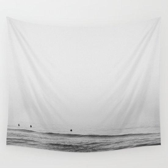 Surfers - Black and White Ocean Photography Huntington Beach California by jasonmeintjes