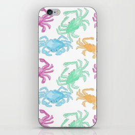 Colorful Crabs iPhone Skin