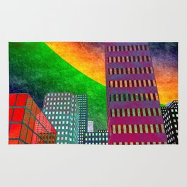 the colored city -2- Rug
