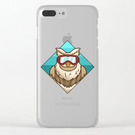 snow eagle Clear iPhone Case