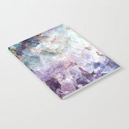 Turquoise & Purple Quartz Crystal Notebook