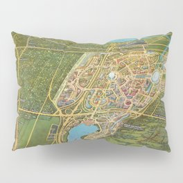 Map of the New York world's fair and approaches (ca. 1939–1940) from The Lionel Pincus and Princess Firyal Map Division Pillow Sham