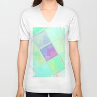 lv V-neck T-shirts featuring Re-Created Mirrored SQ LV by Robert S. Lee by Robert S. Lee Art
