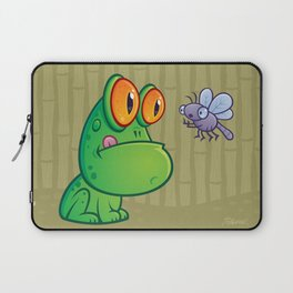 Frog and Dragonfly Laptop Sleeve