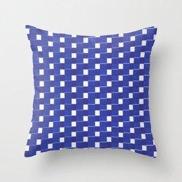 Blue touches blue Throw Pillow
