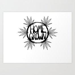 Home Grown Organic Art Print