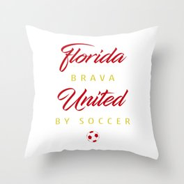 Florida Brava Throw Pillow