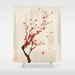 Oriental plum blossom in spring 005 Shower Curtain