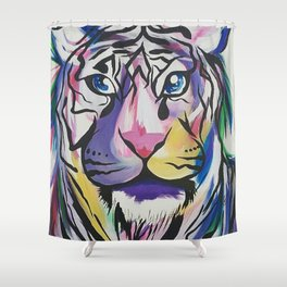 """""""Born this way"""" Shower Curtain"""