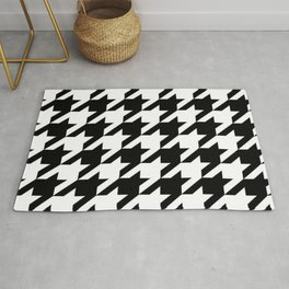 retro fashion classic modern pattern black and white houndstooth Rug