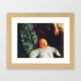 Baby Eyeless Framed Art Print