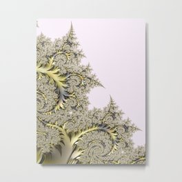 Frosty Snowflake Metal Print