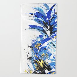 Chase the Blue Pineapple Beach Towel