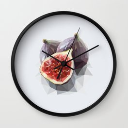 Polygon Fig Style - Low Poly Wall Clock