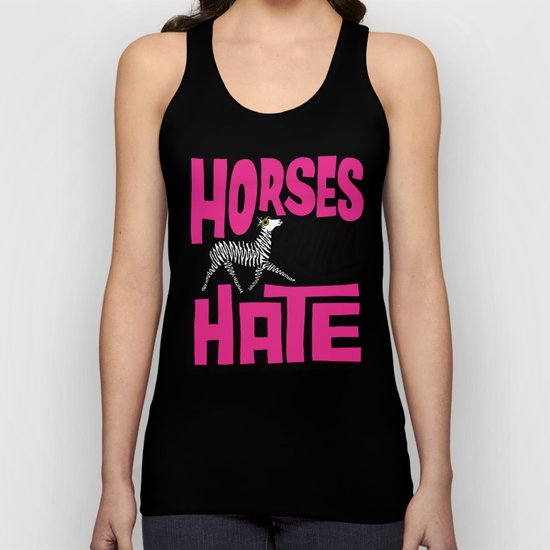 Horses Gonna Hate Unisex Tank Top
