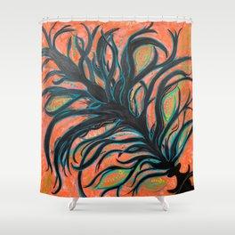 Pumpkin Spice Hookah Shower Curtain