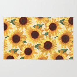 Happy Yellow Sunflowers Rug