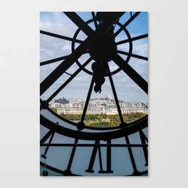 Giant clock at the Musee d'Orsay Canvas Print