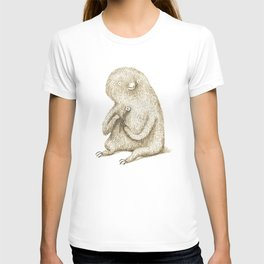 Sloth With Flower T-shirt