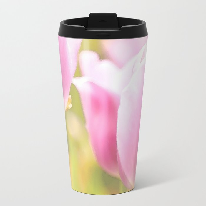 Spring is here with wonderful  colors - close-up of tulips flowers Metal Travel Mug