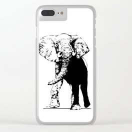 Elephant - M Clear iPhone Case