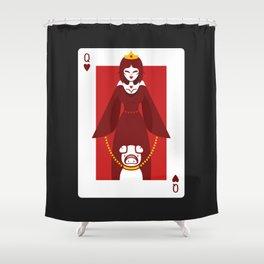 Queen of Hearts - Queen Circe Shower Curtain