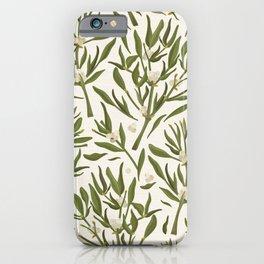 Mistletoe Leaves / Christmas Florals, Holiday Decor iPhone Case