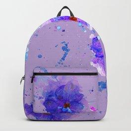 Violet Watercolor Flower Backpack