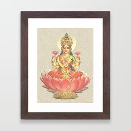Lakshmi, Goddess of Love (Coral) Framed Art Print