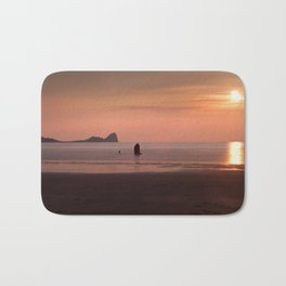 Pastel Sunset at Rhossili Bay Bath Mat