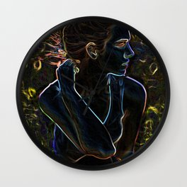 In the Firelight Wall Clock