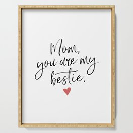 Gift for Mom Mug BFF Mother's Day Best Mom Funny Mom Mug Gift for Abuela Grandma Nana Friend Wife Gi Serving Tray