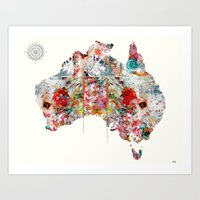 australia Art Prints featuring Australia by bri.buckley