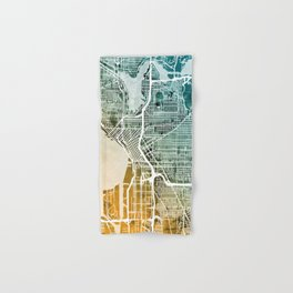 Seattle Washington Street Map Hand & Bath Towel
