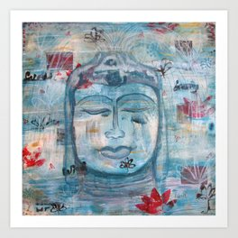Bali Fountain Buddha Art Print