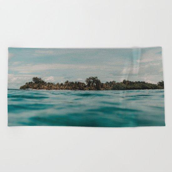 Shipwrecked Ocean Blues Beach Towel