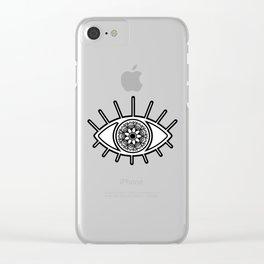 Mandala Evil Eye Clear iPhone Case