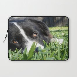 Thoughtful Border Collie Laptop Sleeve
