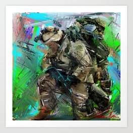 Army Soldier  Art Print