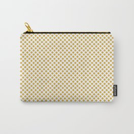 Spicy Mustard Polka Dots Carry-All Pouch
