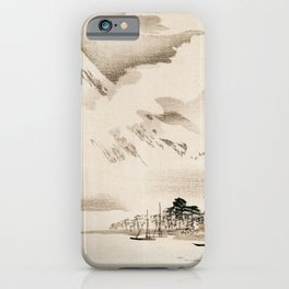 View Of Mount Fuji Traditional Japanese Landscape iPhone Case